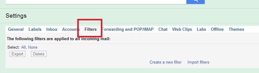 gmail filters_techshohor