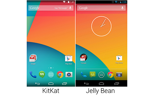 Android jellybin vs kitkat-TechShohor