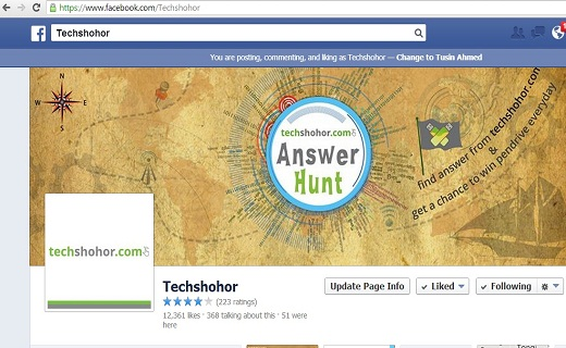 facebook page_techshohor