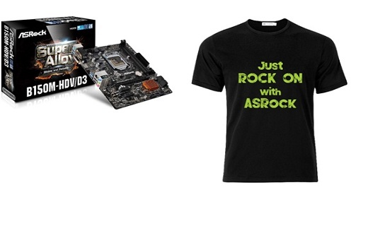 Asrock MB with Free T-Shirt