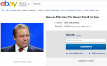 Pakistan Prime Minister Nawaz Sharif on ebay-TechShohor