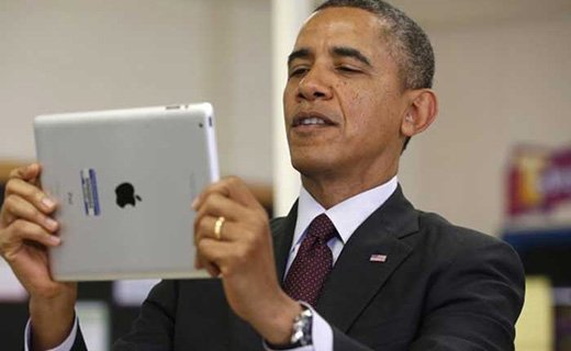 Barak Obama Capturing picture-TechShohor