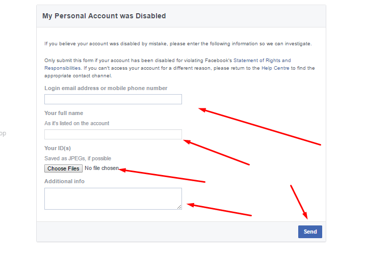 facebook disable