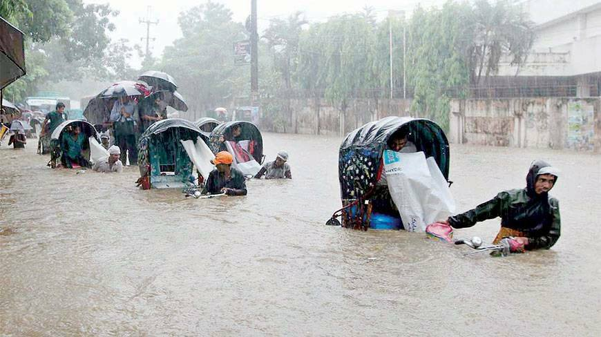 Dhaka-water-logging-techshohor