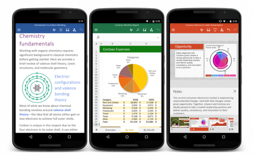 Microsoft Office apps