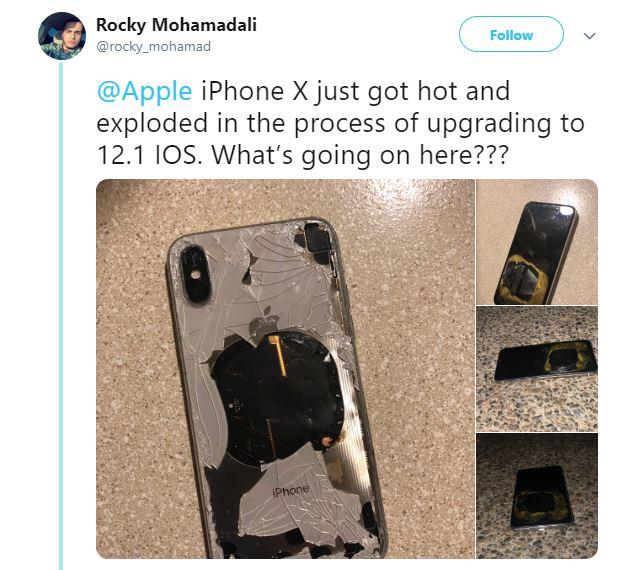 iphone 10 blast
